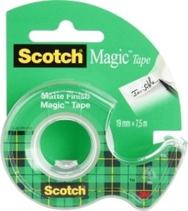 Lepicí páska Scotch Magic s odvíječem  -  19 mm x 7,5 m