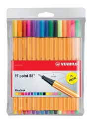 Liner STABILO point 88  -  sada 15 ks